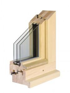 Fenêtre bois à triple vitrage